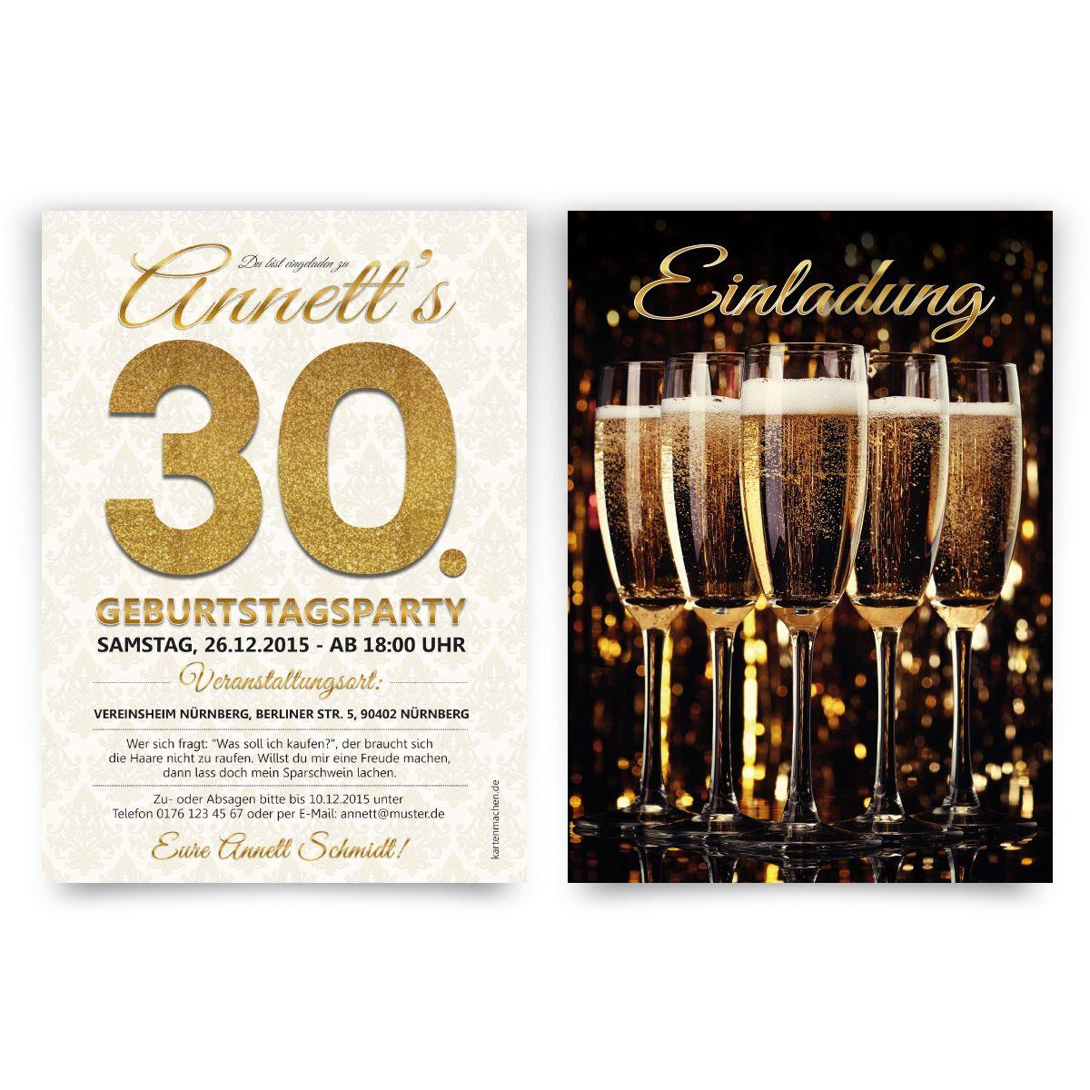 Einladungskarten Im Sekt Motiv. #einladung #einladungskarten #party  #geburtstag #winter #