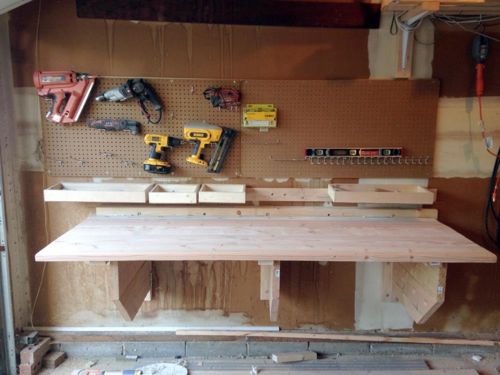 Diy Folding Workbench Folding Workbench Workbench With Storage