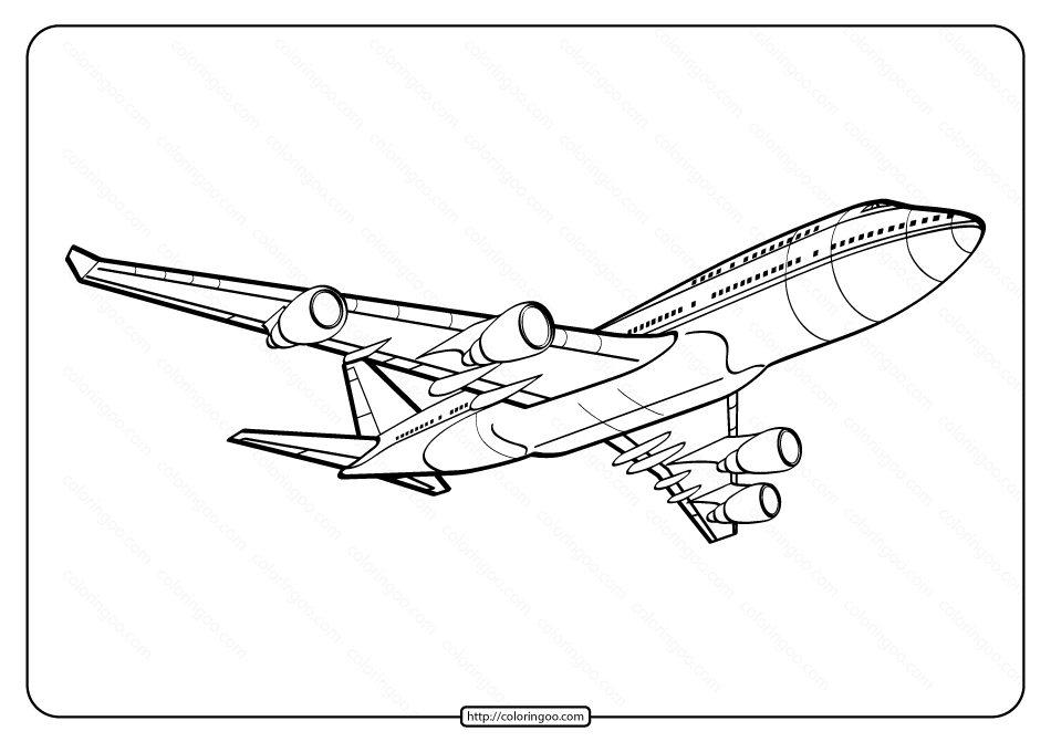 Free Printable Airplane Pdf Coloring Page 08 Airplane Coloring Pages Coloring Pages Color