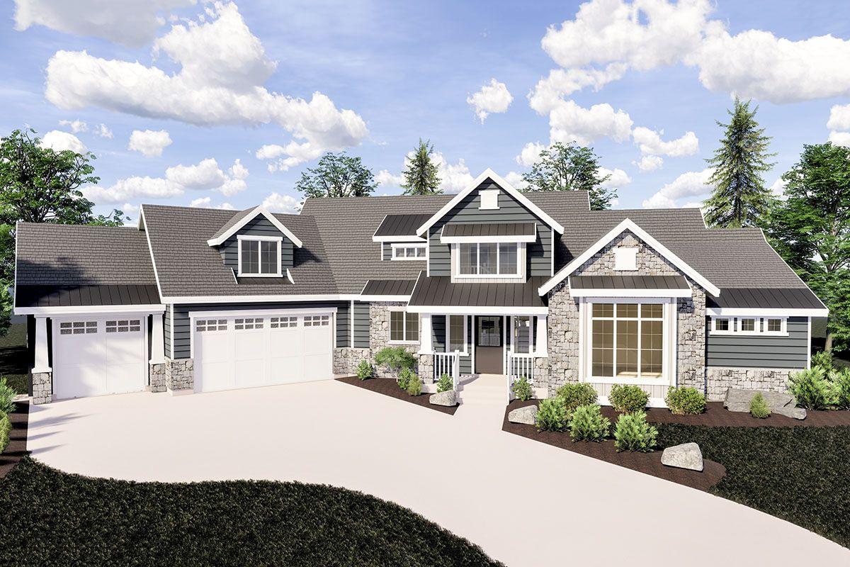 Photo of Plan 290031IY: Expandable Craftsman House Plan