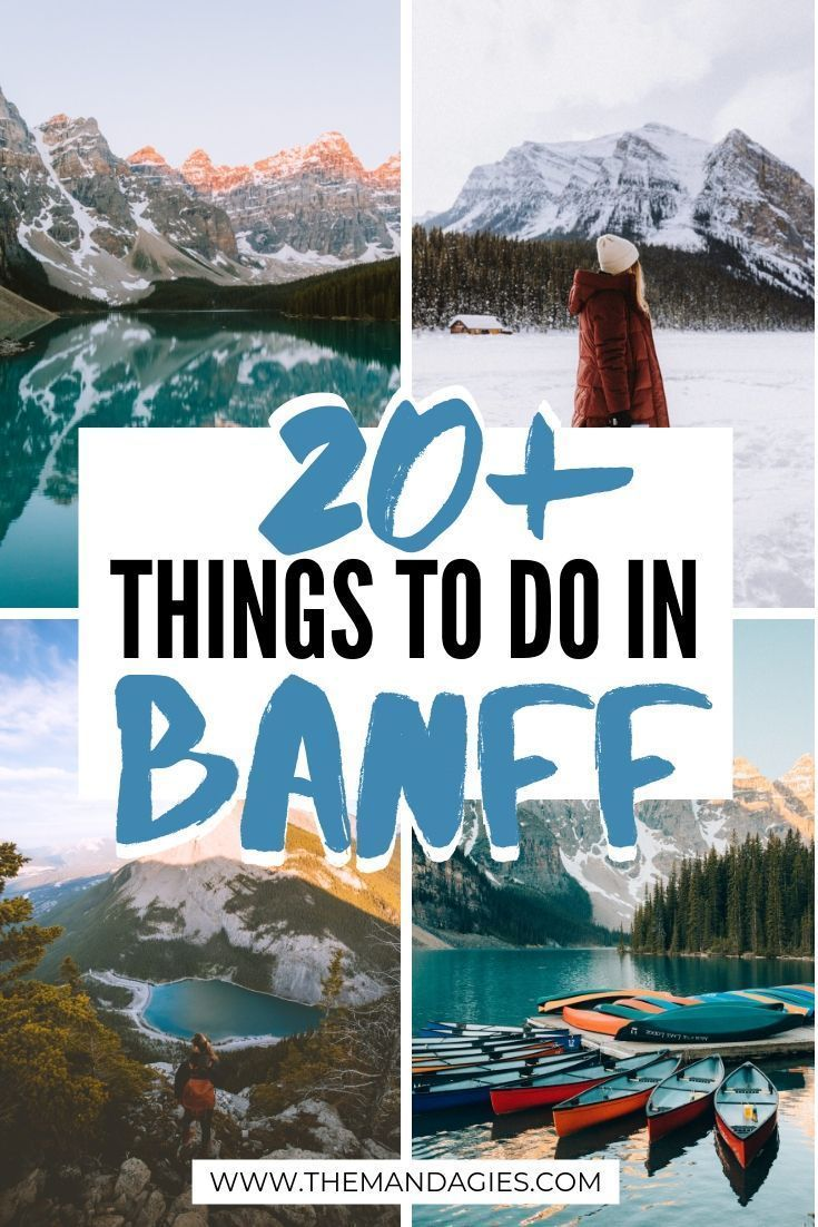 20 Adventurous Things To Do In Banff, Canada - The Mandagies -  Ready for an adventurous vacation in the Canadian Rockies? We're sharing over 20 things to do in  - #AdventureTravel #adventurous #banff #BudgetTravel #canada #mandagies #things #TravelPhotos