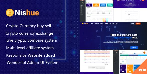 Nishue - CryptoCurrency Buy Sell Exchange and Lending with MLM System | Live Crypto Compare #programingsoftware