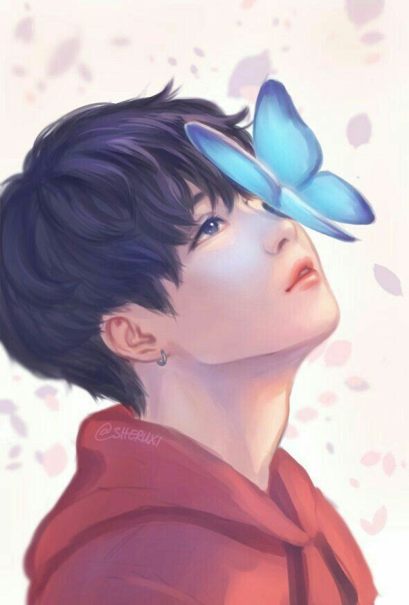 Anime Boys Digital Art Bts Suga Jungkook Fanart Bangtan Boy Min Yoongi Kpop Fan Fans