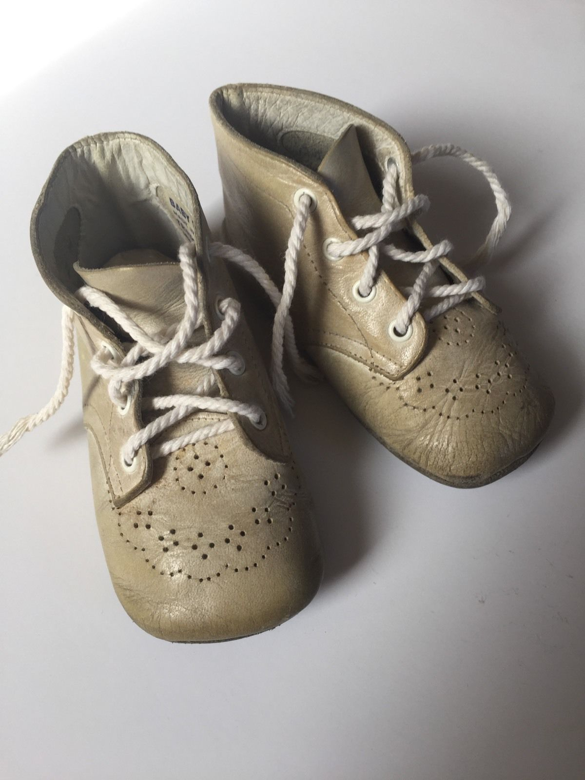 Antique Vintage Leather Baby Shoes Baby Deer Crib Shoes