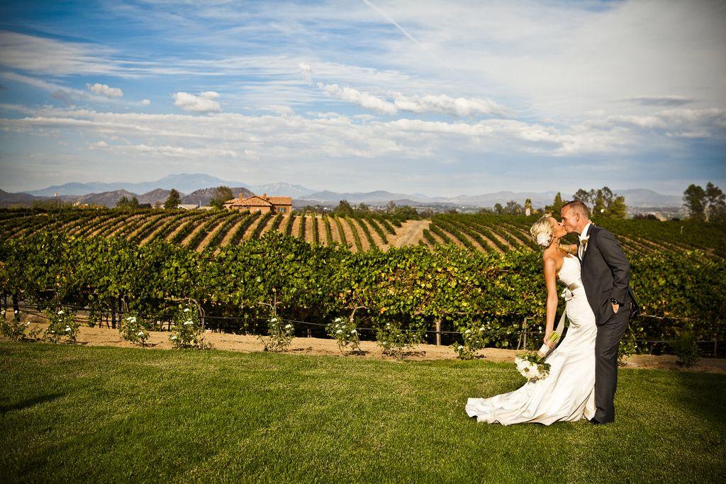 Vineyard Wedding Photos at Temecula Wedding Venue Villa de