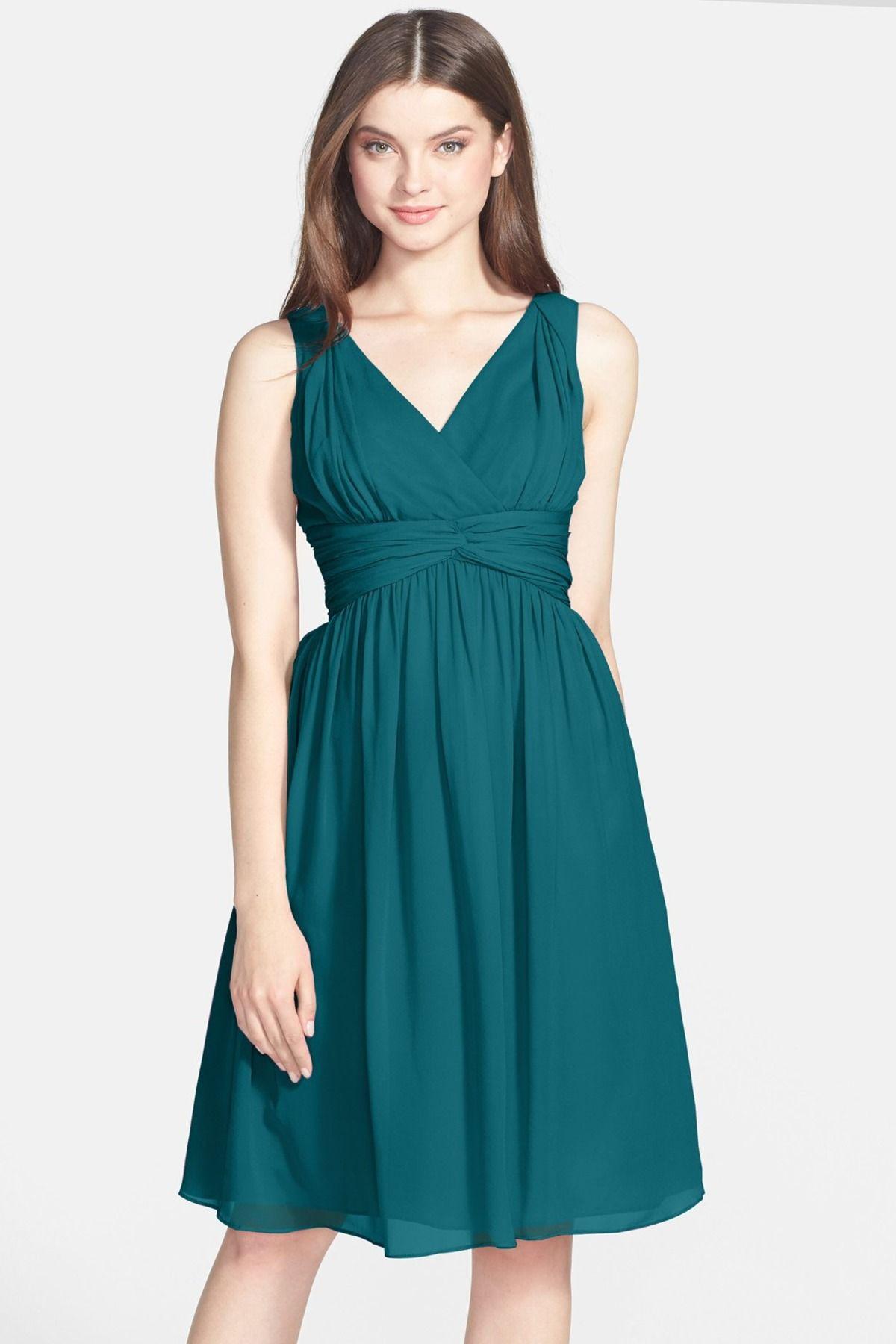 Donna Morgan | Silk Chiffon Twist Dress (Plus Size | Donna morgan ...