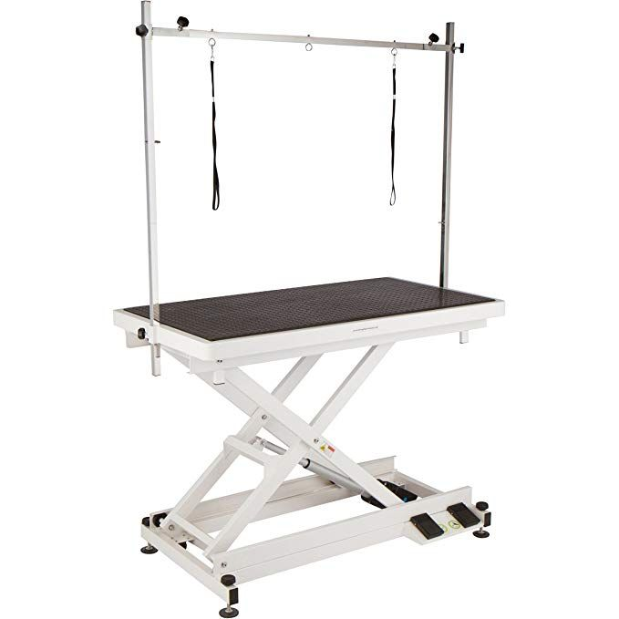 Flying Pig Professional Electric Lift X Style Durable Grooming Table W Wheels Review Flying Pig Pet Grooming Dog Grooming