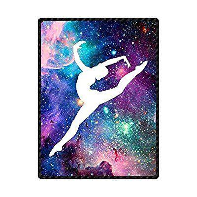 Amazon Com Tslook 60x80 Blankets Funny Galaxy Gymnastic