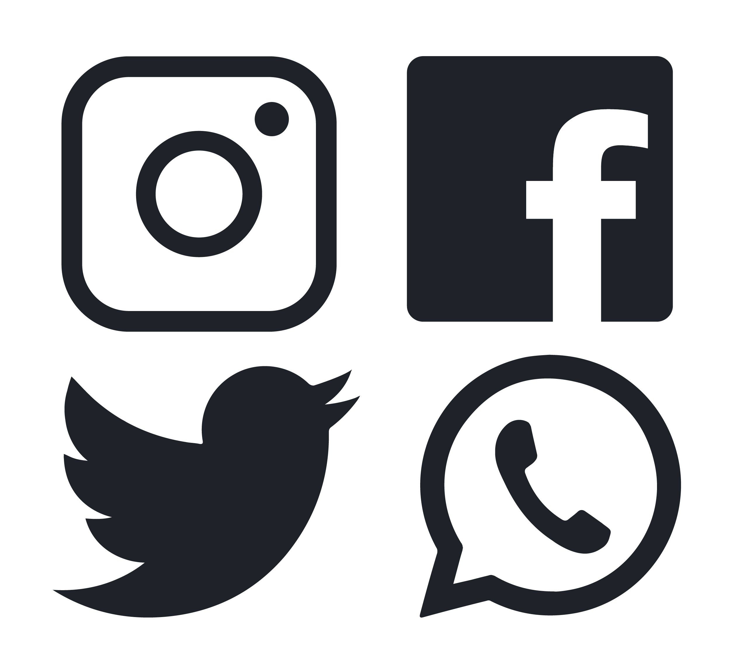 Facebook, Twitter and Instagram logo Instagram logo
