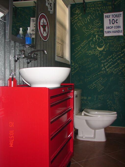 Tool Box Vanity Google Search Garage Bathroom Vanity Repurposed Items