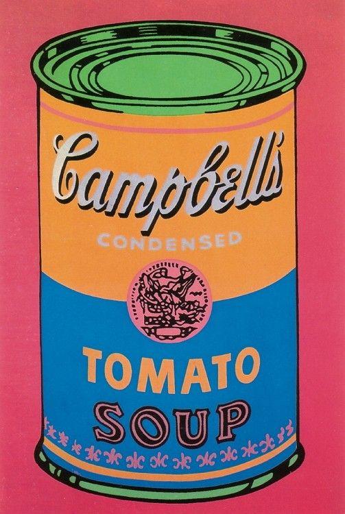 Tomato Soup Can By Andy Warhol 1990 Warhol Art Andy Warhol Art Orange Art
