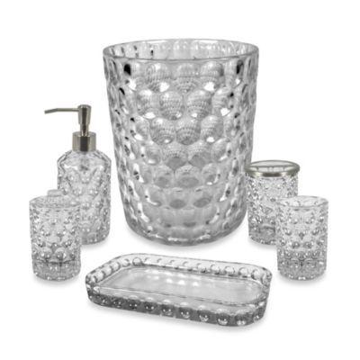 Crystal Ball Gl Bathroom Accessories In Clear