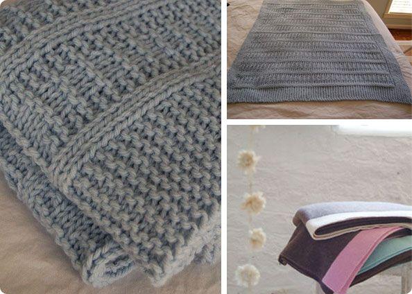 tricoter une couverture pour bebe | couverture | Pinterest | Stricken