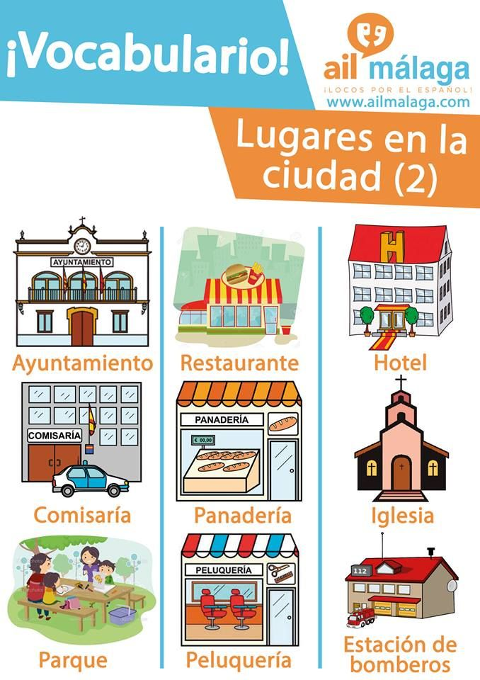 Second Part Of The City Shops And Places That You Can Find Learnspanish Spanis Tarjetas De Vocabulario En Español Vocabulario Español Aprender Español