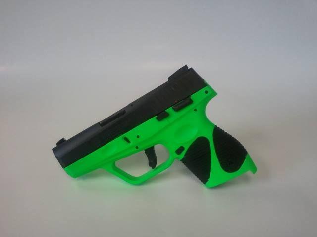 Taurus 740 Slim 40 Caliber Pistol Vivid Green Frame Perfect For
