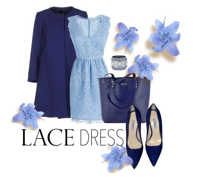 """Lace Dress"" by ariannapeach ❤ liked on Polyvore featuring мода, Tara Jarmon, Shoshanna, Rebecca Minkoff, Prada и Chico's"