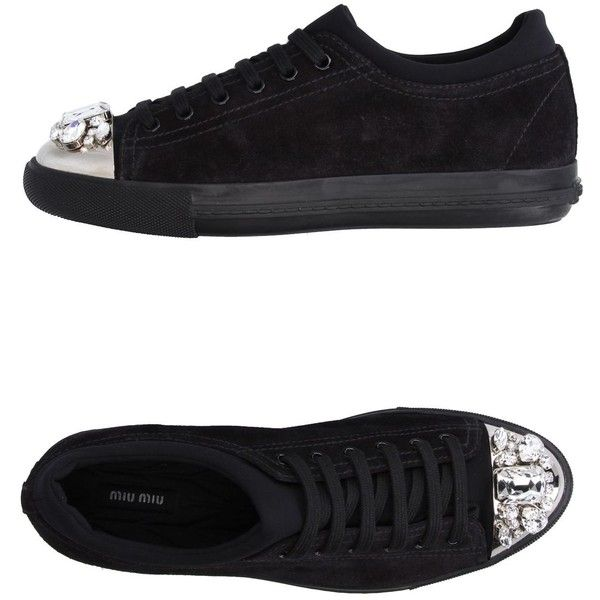 Miu Miu Low-tops & Sneakers (5.931.130 IDR) ❤ liked on Polyvore featuring shoes, sneakers, black, miu miu shoes, flat shoes, round toe flat shoes, black flat shoes and animal shoes