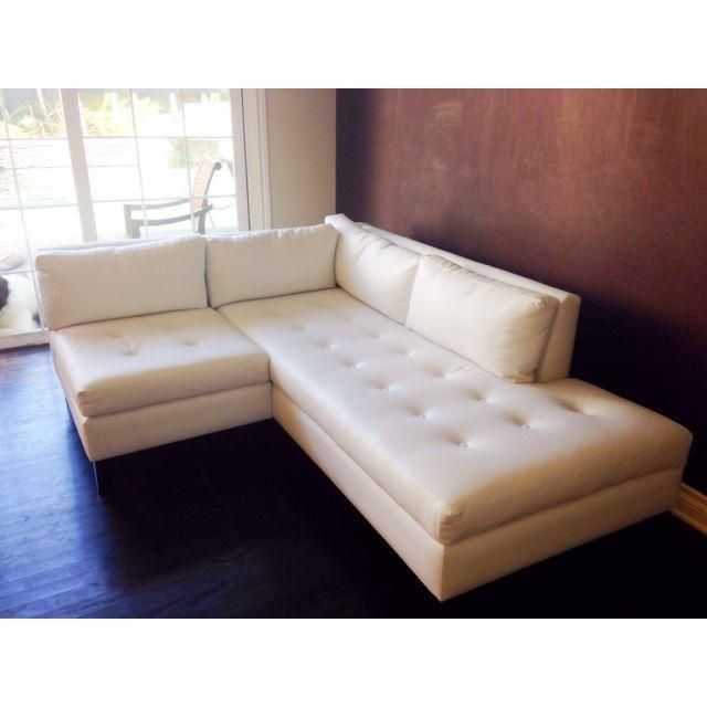 Sectional Sofas Modern Newport Compact White Leather L Shape Corner Sofa Furniture Pinterest White leather Leather sectional and Couch sofa