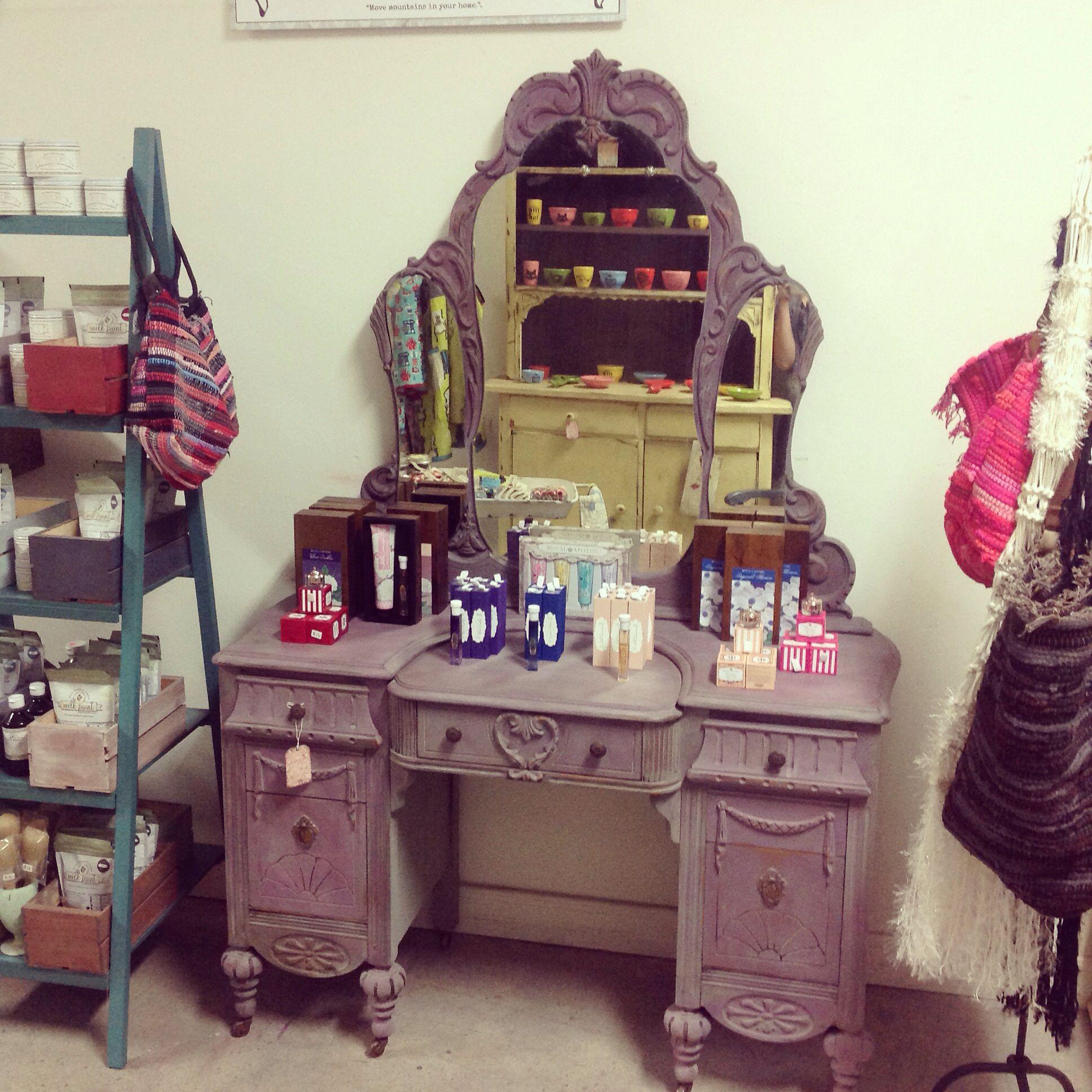 Boho gypsy vanity in miss mustard seedus milk paint