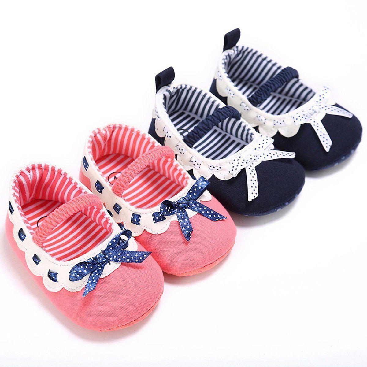Newborn Baby Girl Princess Shoes PU Leather Soft Sole Crib Shoes Prewalker 0-12M