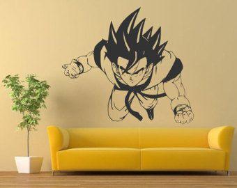 Dragon ball Goku Super Saiyan Head vinyl wall art