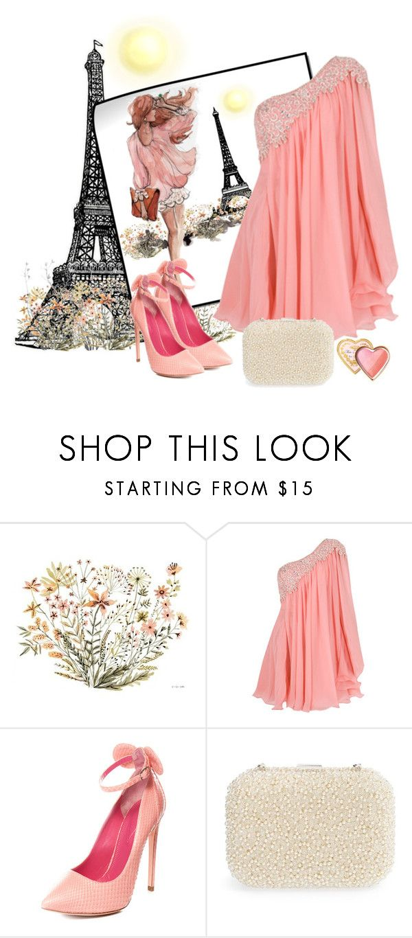"""""""Paris Sketches"""" by loves-elephants ❤ liked on Polyvore featuring Oscar Tiye, Natasha and Too Faced Cosmetics"""