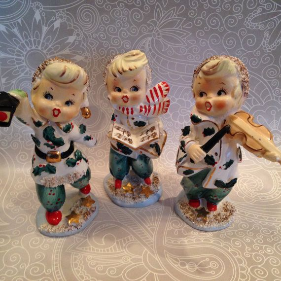 Ceramic Christmas Caroler Figurines Parma By Thepokeypoodle: Vintage Lefton Christmas Carolers Made In Japan