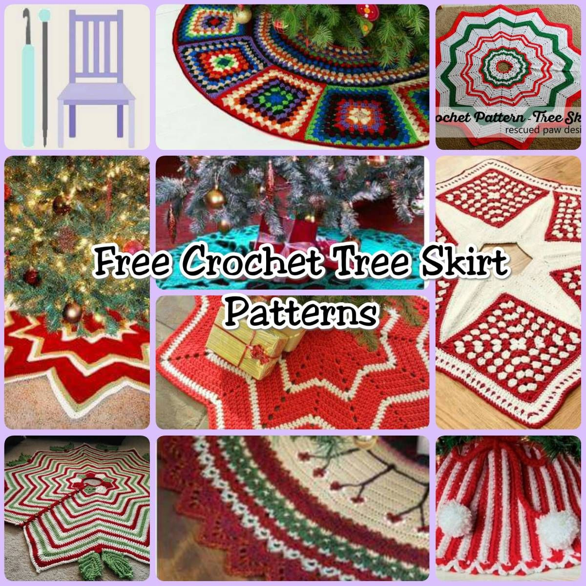 FREE Tree Skirt Crochet Patterns | Crochet tree skirt, Crochet tree ...