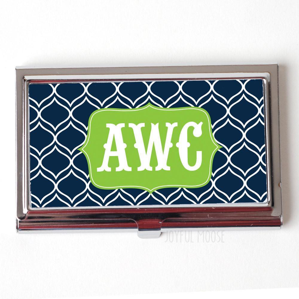 Elegant Monogram Business Card Case - Monogram Business Card Holder ...