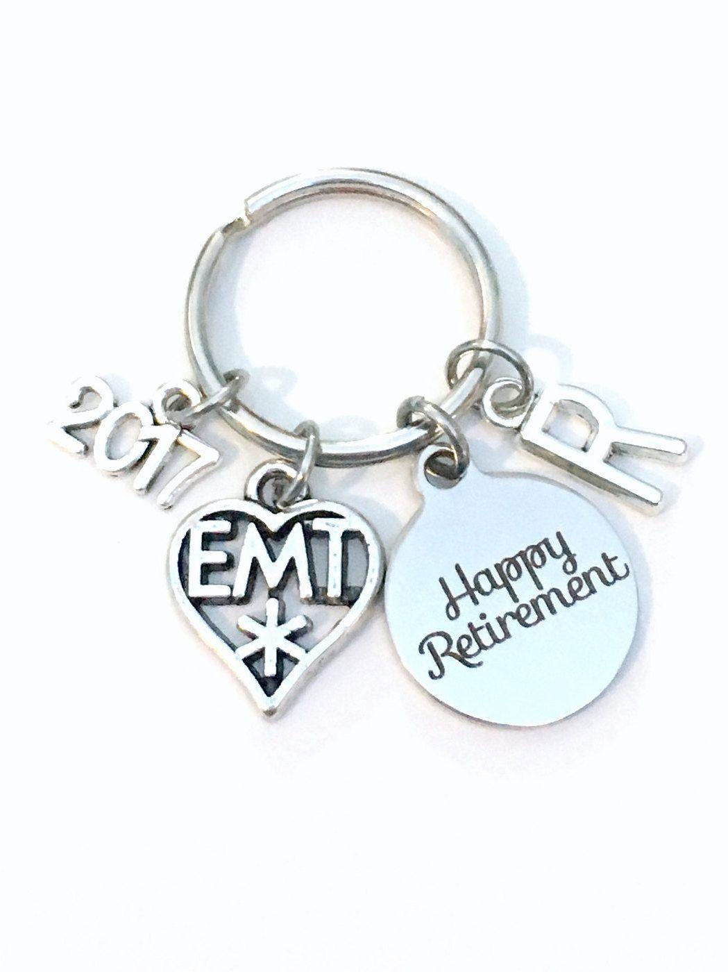 Retirement Gift For Emt Keychain  Medical Paramedic Symbol