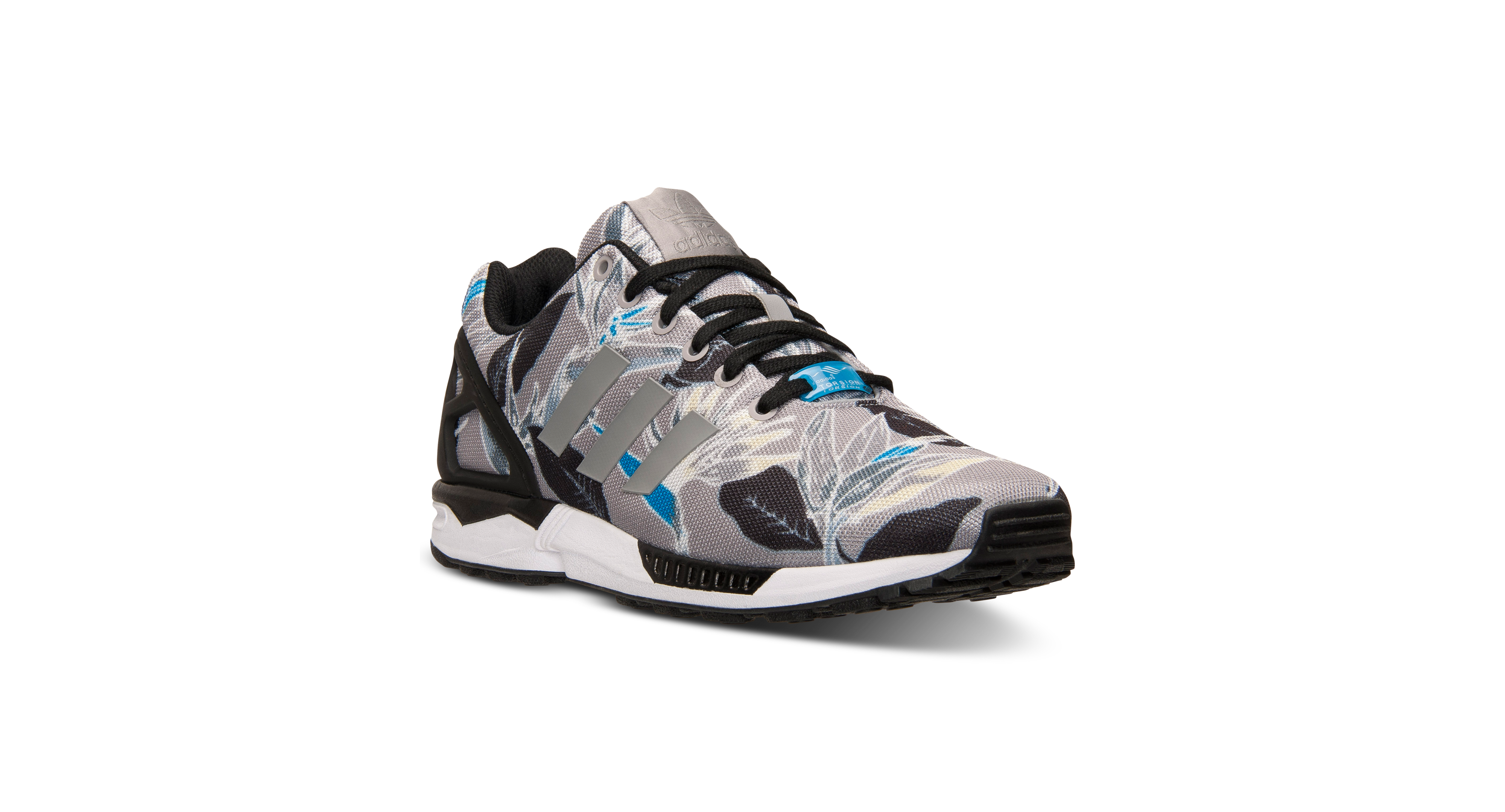 6a5ca7be47e0d adidas Men s Zx Flux Floral Print Casual Sneakers from Finish Line ...