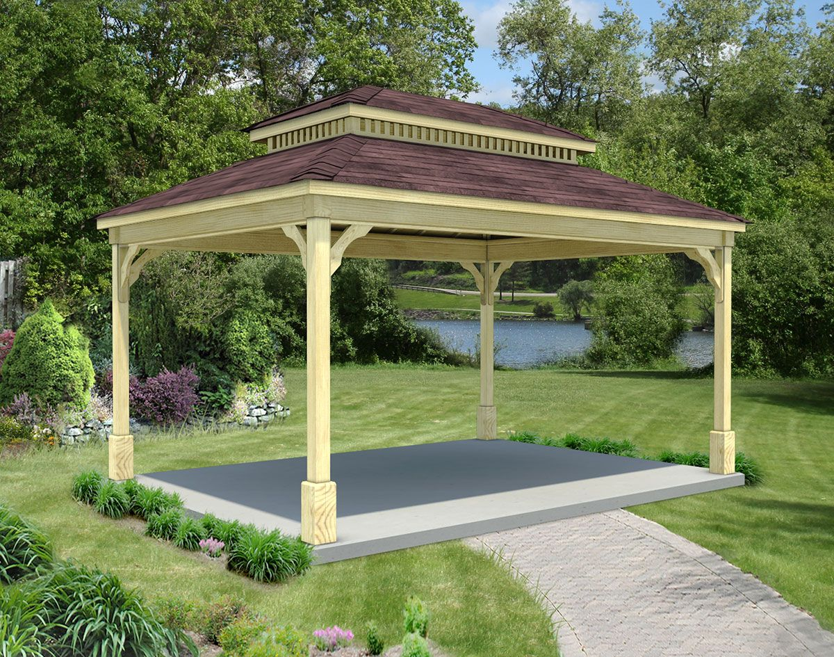 Treated Pine Double Roof Ramadas Ramadas By Material Rectangular Gazebo Rectangle Gazebo Gazebo
