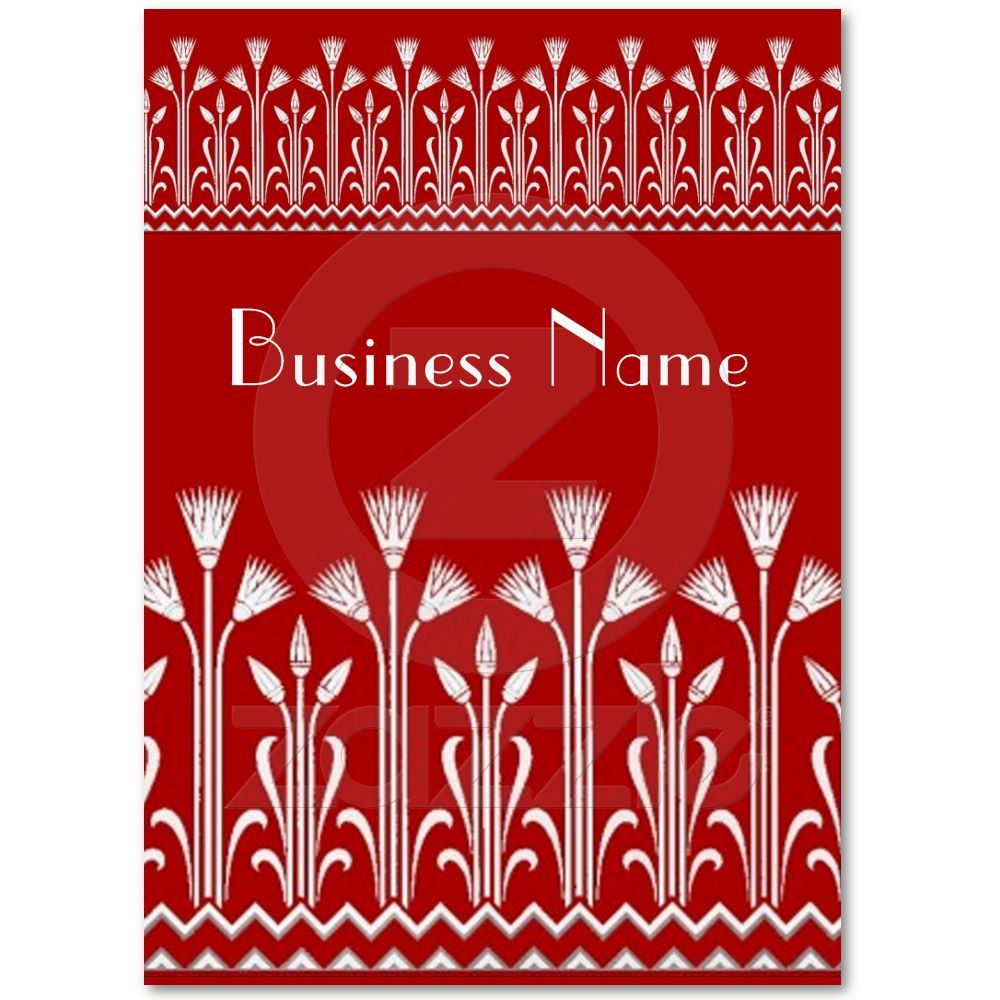 Profile Card Vintage Victorian Pattern Red White   Business cards ...