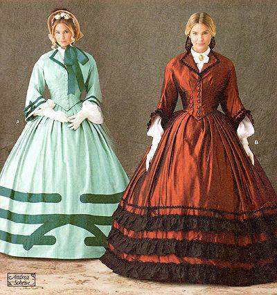 Schnittmuster: Um 1860 Kleid | Schnittmuster / pattern | Pinterest ...