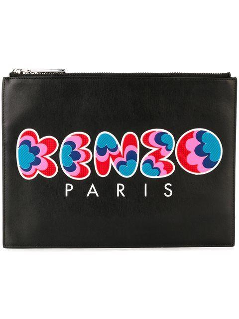 Kenzo bags Clutch 'kenzo kenzo leather Paris' clutch hand Bags rwOrZ1x