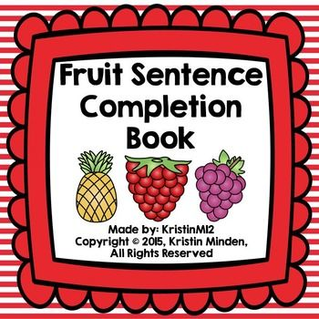 Fruit Sentence Completion Book | Speech language therapy, Speech therapy  resources, Sentences