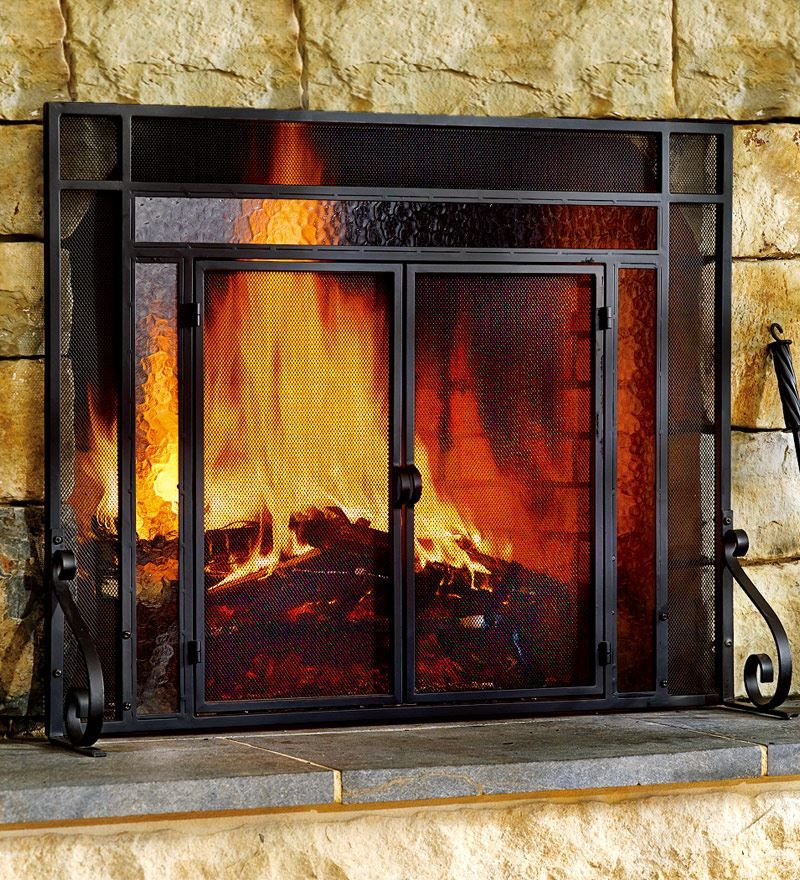 wooden fireplace screens. Large Tubular Fire Screen  Screens 149 95 159 Plow Hearth