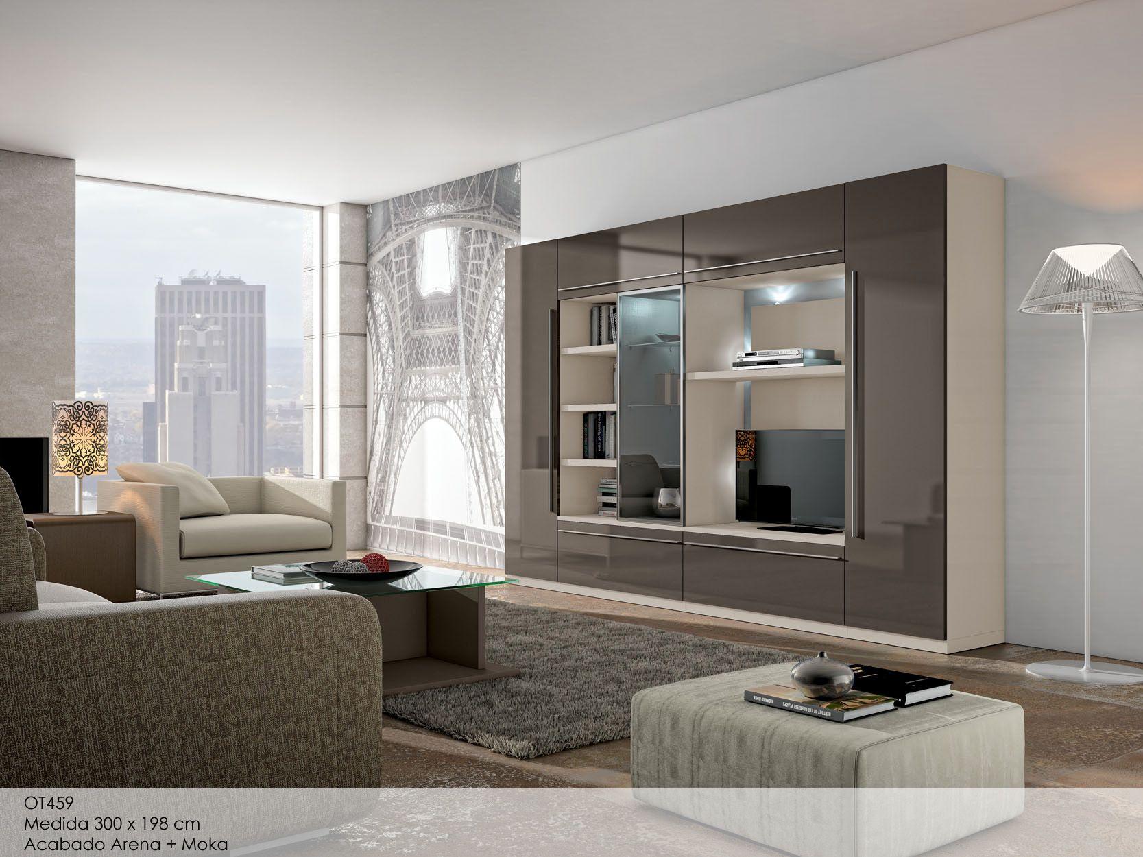 Salones modulares modernos madrid buscar con google for Muebles para television de madera modernos