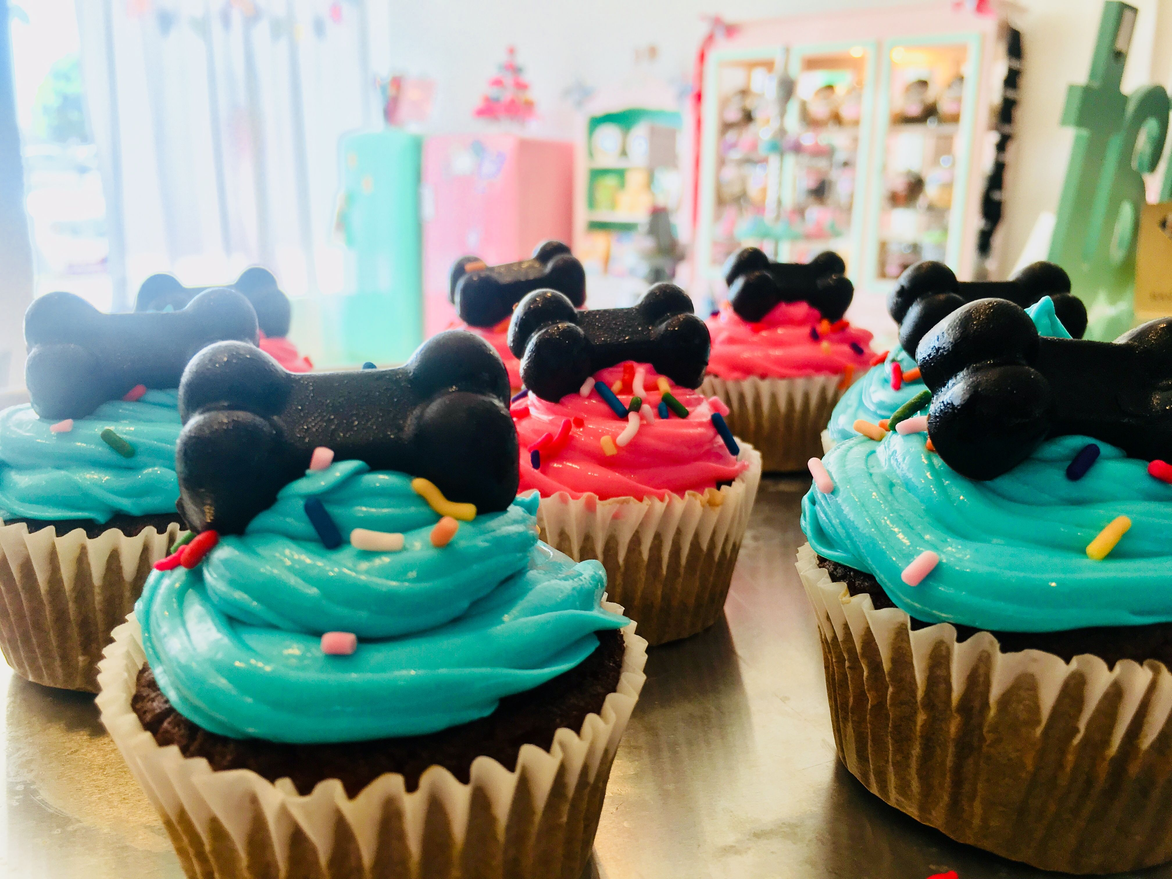Dog Cupcakes Cakes And Beer Available At Bakery Bow Wow Beauty