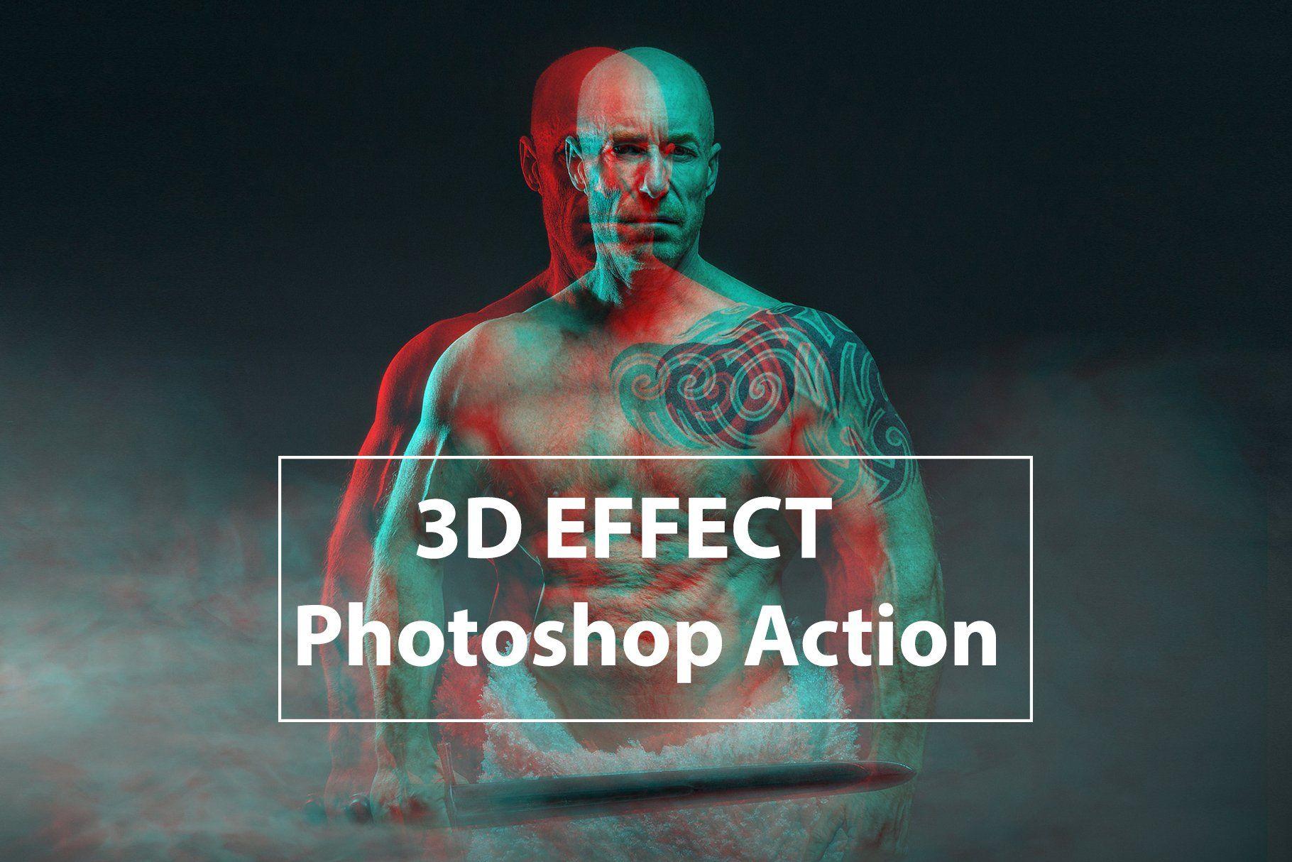 3d Effect Photo Shop Action Photoshop Actions Photoshop Amazing Photoshop