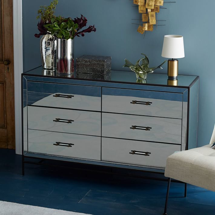 Mirrored 6 Drawer Dresser