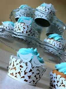 light blue cupcake holders