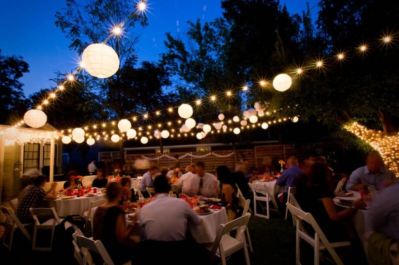 Outdoor wedding venue at night with string lights outdoor wedding outdoor wedding venue at night with string lights aloadofball Image collections