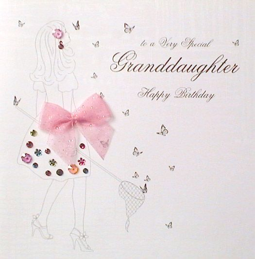 With the words ' to a Very Special Granddaughter Happy Birthday' on the front. Description from mojolondon.co.uk. I searched for this on bing.com/images