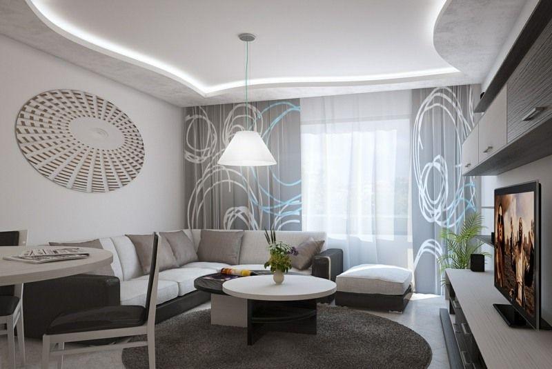 Eingerichtete wohnzimmer ~ Indirekte beleuchtung in einem hell eingerichteten wohnzimmer