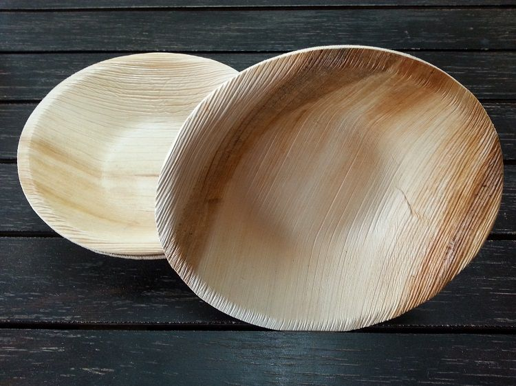 "7"" Round Palm Leaf Bowl Pack of 25"