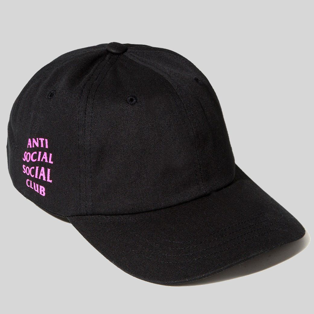 ba0b803d2870f Anti Social Social Club ASSC Weird Cap Black Pink ()