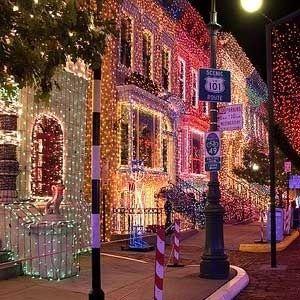 Decoraci n navide a al exterior en estados unidos - Decoracion navidena exterior ...