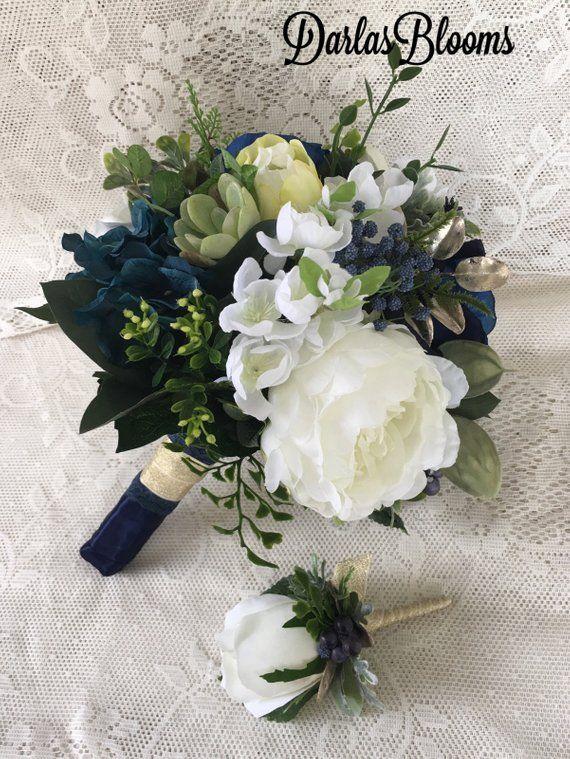 Wedding bouquet,Navy blue wedding bouquet,Navy Bridal