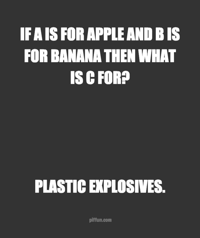 What is C for? | Funny | Dumb jokes, Reddit funny, Cheesy jokes